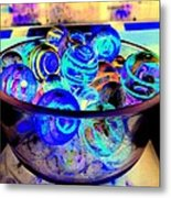 Bowl Of Marbles Metal Print