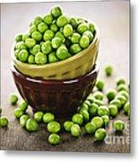 Bowl Of Peas Metal Print