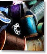 Bowl Of Thread Metal Print