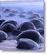 Bowling Ball Beach California Metal Print
