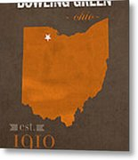Bowling Green State University Falcons Ohio College Town State Map Poster Series No 021 Metal Print