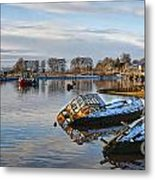 Bowling Harbour Panorama 01 Metal Print