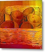 Bowls In Basket Moderne Metal Print