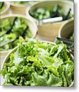 Bowls Of Salad Keaves Metal Print