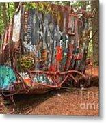 Box Car Graffiti Metal Print