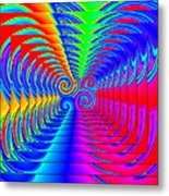 Boxed Rainbow Swirls 2 Metal Print