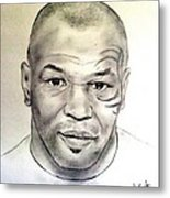 Boxer And Actor Mike Tyson Metal Print