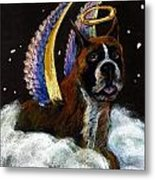 Boxer Angel Metal Print