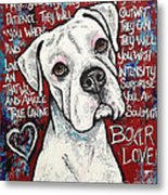Boxer Love Metal Print
