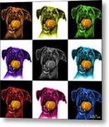 Boxer Mix Dog Art - 8173 - V1 - M Metal Print