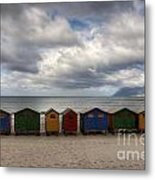 Boxes On The Beach Metal Print