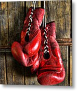 Boxing Gloves - Now Retired Metal Print