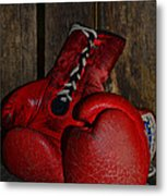 Boxing Gloves Worn Out Metal Print by Paul Ward