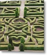 Boxwood Garden - Chateau Villandry Metal Print
