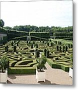 Boxwood Garden Design - Chateau Villandry Metal Print