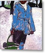 Boy Carrying Coal Circa 1901 Metal Print