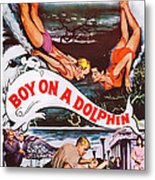 Boy On A Dolphin, Us Poster, Center Metal Print