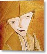 Boy With Flute 413-08-13 Marucii Metal Print