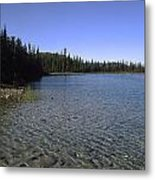 Boya Lake Metal Print