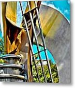Boyd Plaza Fountain Revisited Metal Print