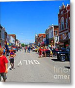 Boys Enjoying The Car Show Metal Print
