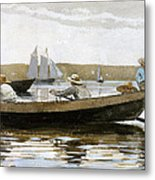 Boys In A Dory Metal Print