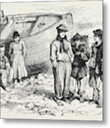 Boys Of The Claddagh Galway 1873 Metal Print