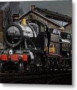 Br Steam Train And Gwr Pannier Tank Metal Print