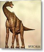 Brachiosaurus Dinosaur Metal Print