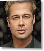Brad Pitt Metal Print