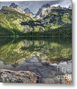 Bradley Lake Reflection - Grand Teton National Park Metal Print