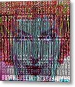 Brain Freeze Metal Print