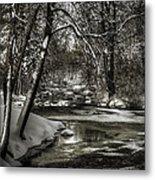 Brainards Bridge After A Snow Storm 4 Metal Print