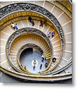 Bramante Spiral Staircase In Vatican City Metal Print