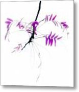 Branch With Purple Leaves Metal Print