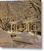 Branches And Snow Mounds Metal Print