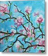Branches In Bloom Metal Print