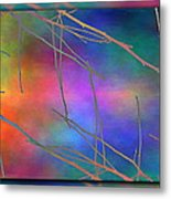 Branches In The Mist 15 Metal Print