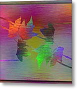 Branches In The Mist 55 Metal Print