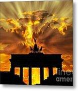 Brandenburg Gate Brandenburger Tor Berlin Germany Metal Print