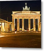 Brandenburg Gate Panoramic Metal Print by Melanie Viola