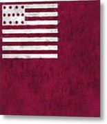 Brandywine Flag Metal Print by World Art Prints And Designs