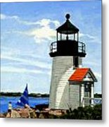 Brant Point Lighthouse Nantucket Massachusetts Metal Print