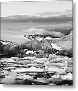 brash sea pack ice forming together with dirty blue iceberg as winter approaches cierva cove Antarct Metal Print by Joe Fox