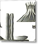 Brasilia Landmarks Metal Print