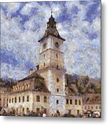 Brasov City Hall Metal Print