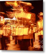 Brass Band At Night Metal Print