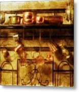 Brass Bench With Polished Copper And Brass Colllection Metal Print