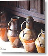 Brass Pots From 16th Century Columbus Home Metal Print