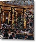 Brasserie Bofinger In The Rue De La Bastille, Paris, 1999 Oil On Canvas Metal Print